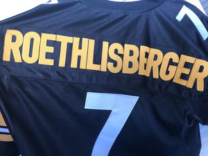 Steelers REEBOK Jersey Ben roethlisberger Pittsburgh playoffers NFL SHOP authentic throwback for Sale in Boston, MA
