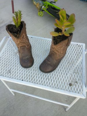 Boots with plants for Sale in Stockton, CA