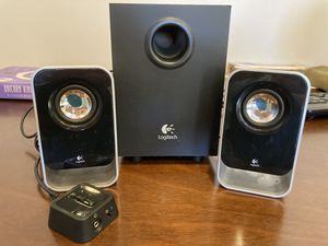 Logitech SubWoofer and Speakers with Audio Adjuster for Sale in Los Angeles, CA