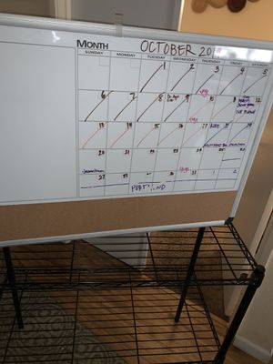 "Magnetic Dry-Erase & Cork Calendar Board, 24"" x 36"" for Sale in Fresno, CA"
