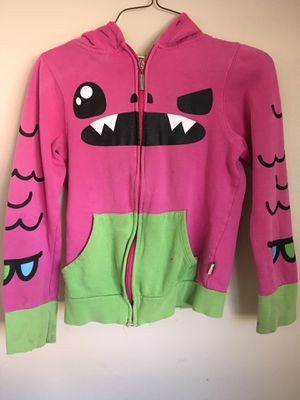 Girls sweater XS pink and green monster hoodie for Sale in Orange, CA