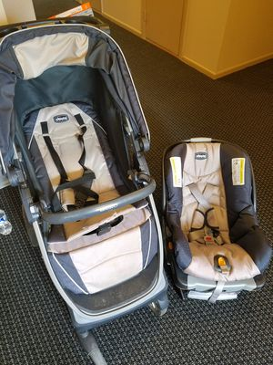 CHICO BRAVO stroller+car seat for Sale in Arlington Heights, IL