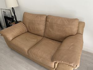 Leather Couch Light Brown for Sale in Washington, DC