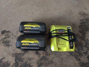 Ryobi 40v battery for Sale in Silver Spring, MD