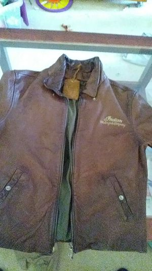 Indian Motorcycle Leather Jacket for Sale in Puyallup, WA