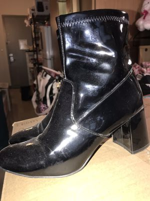 Steve Madden Black Patent Leather Boots for Sale in Fairfax, VA
