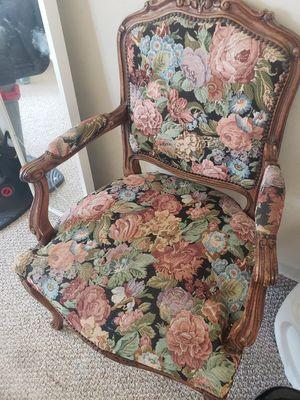 Mid-century floral chair for Sale in Coronado, CA