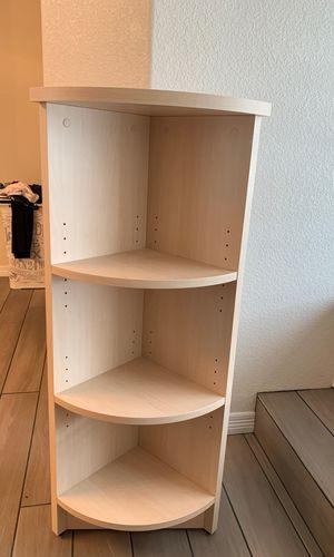 White-Washed 3 Shelf Corner Bookcase/Shelf for Sale in Aurora, CO