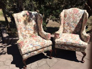 Two wingback chairs for Sale in Redmond, OR