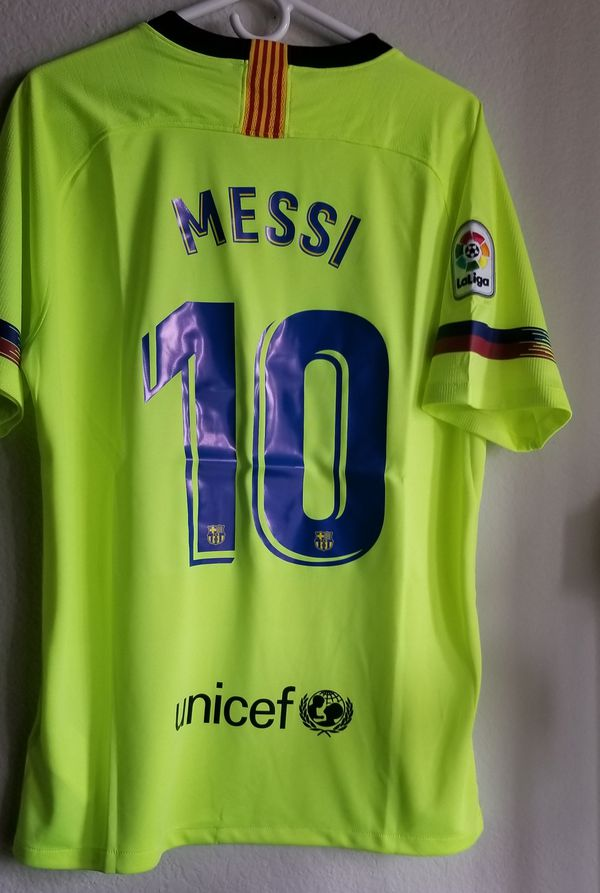 ceb52e48a13 nike men's 18/19 barcelona away jersey original messi for sale in