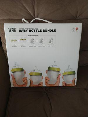 Comotomo baby bottles for Sale in Bellingham, MA
