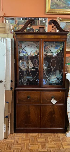 Vintage antique mahogany China cabinet chest pick up of delivery la Mesa for Sale in San Diego, CA