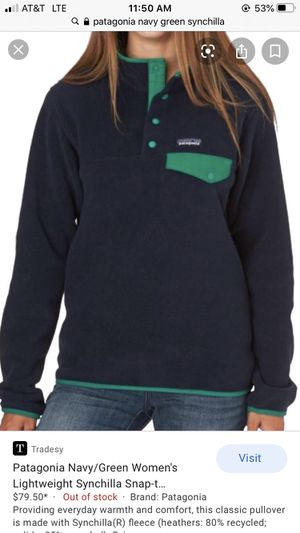 Patagonia Navy Blue Synchilla for Sale in Chicago, IL