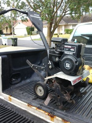 Craftsman 5hp 24 inch wide tiller Commercial Grade gas only 4 cycle engine. Works great! for Sale in Pompano Beach, FL