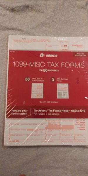 Adams 2019 1099-MISC and 1096, Laser Tax Forms, 50 Per Pack for Sale in Sacramento, CA