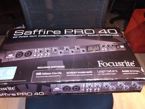 Saffire PRO 40 AUDIO INTERFACE for Sale in Forest Park, GA