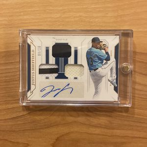 2019 National Treasures JUSTUS SHEFFIELD rookie patch auto #/10 for Sale in McCleary, WA