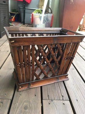 Wood magazine rack holder bin for Sale in San Carlos, CA