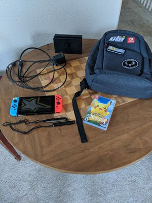 Nintendo switch with games and accessories for Sale in Riverside, CA