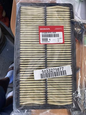 1 honda filter part #17220-rye-a00. OEM from dealer. Have receipt. for Sale in Stanton, CA