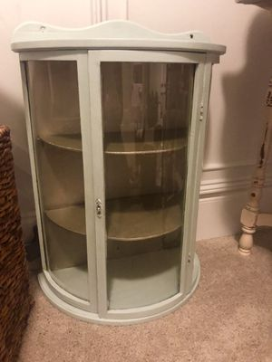 Old antique small wall hanging curio cabinet for Sale in Franklin, TN