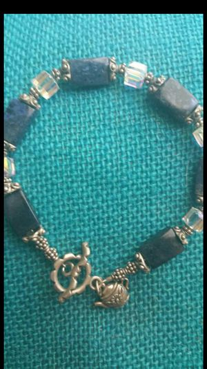 """SILVER & CRYSTAL & GEMSTONE CUSTOM UNIQUE 8"""" BRACELET for Sale in Chicago, IL"""