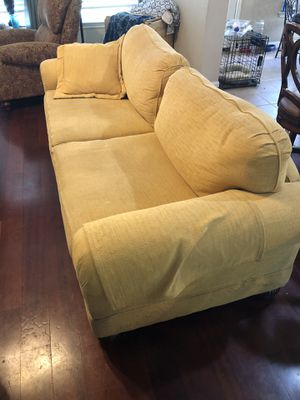 Free couch!! Great condition, no tears, need to be cleaned. Extra long and wide. Very well made. Text when you can pick it up. I'll leave it on the c for Sale in Austin, TX