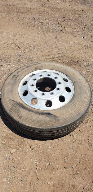 2 Toyo Semi Truck Motorhome RV Tires on Aluminum Wheels for Sale in Phoenix, AZ