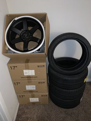 JNC 17 X8.25 Black Rims BRAND NEW IN BOX NEVER INSTALLED. for Sale in TWN N CNTRY, FL