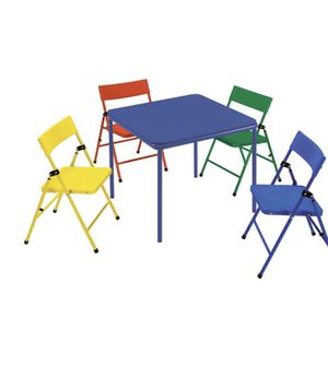 Kids Table w/Foldable chairs for Sale in Revere, MA