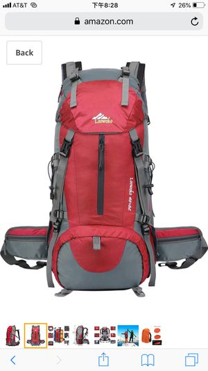5color Hiking Backpack 50L Travel Camping Backpack with Rain Cover for Sale in Bellevue, WA