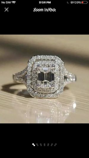 10k gold filled stimulated diamond wedding engagement ring women's jewelry accessory for Sale in Silver Spring, MD