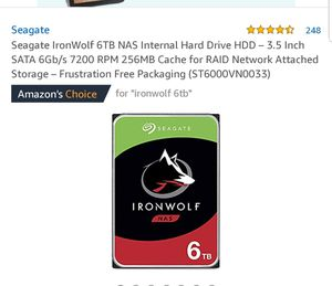 Ironwolf 6tb internal hard drive (brand new) for Sale in Chicago, IL