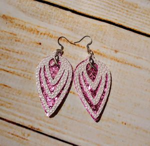 Faux Leather Earrings - Pink for Sale in Cleveland, TN