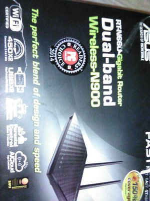 Asus RT-N66U Dual Band Wireless -N900 Gigabit Router. The Dark Knight for Sale in Chicago, IL