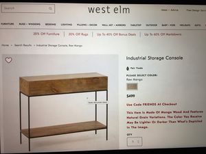 Like new - West Elm Industrial style hall table/console for Sale in Nashville, TN