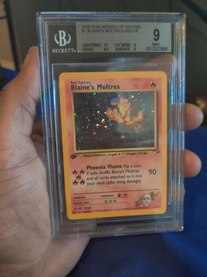 Blaine's moltres gym heroes bgs 9 vintage pokemon card for Sale in Las Vegas, NV