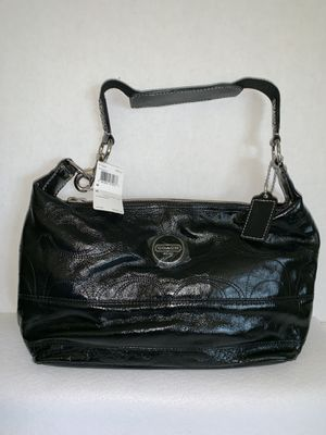 NWT Coach Signature Stitched Black Patent Leather Hobo Bag for Sale in Sun City, AZ