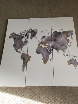 World Map Canvas for Sale in Raleigh, NC
