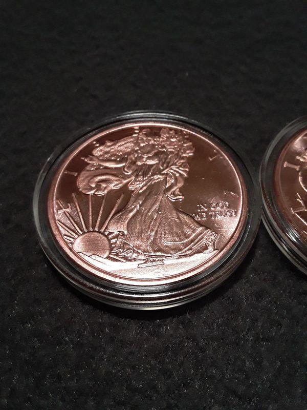 Copper walking liberty