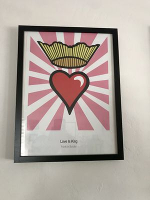 """Love is King Framed Art. 17"""" x 13"""" x 1.5"""" for Sale in San Diego, CA"""