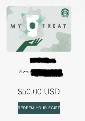 Starbucks e-card $50 for Sale in Seattle, WA