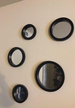 Five circular wall mirrors for Sale in Old Bridge, NJ