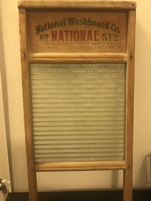 Farmhouse Decor: 1940's Wood and Glass Washboard for Sale in Odenton, MD