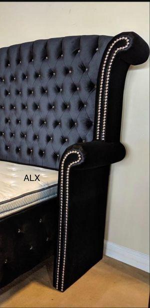 Best Price Black Velvet Bed Frame for Sale in Houston, TX