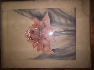 Original 1950s Mundorff Hawaiian Paintings Koa Wood frame for Sale in Wahiawa, HI