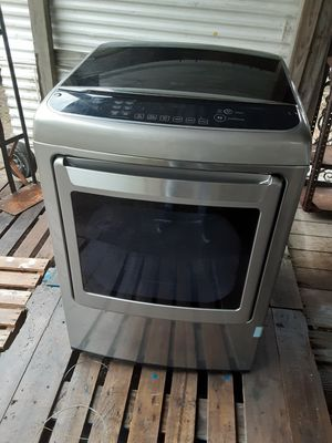 Lg gas dryer with sensor dry steam technology for Sale in Orange, TX