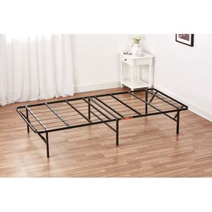 """Mainstays 14"""" High Profile Foldable Steel Bed Frame with Under-Bed Storage, Easy No-Tools Assembly for Sale in Everett, MA"""