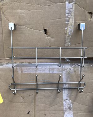 NEW Over the Door Hooks Basket Organizer Rack Hanger Brushed Nickel for Sale in Westerville, OH
