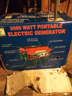3500 Watt Portable Electric Generator for Sale in Wichita, KS